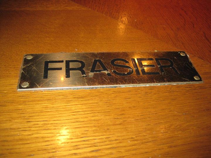 Where Frasier sat @ the bar